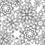 Hand drawn zentangle floral doodles  tribal style. For adult coloring book. Vector illustration eps 10 for your design Royalty Free Stock Photography