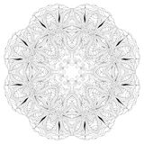 Hand drawn zentangle mandala for coloring page. vector illustration
