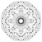 Hand drawn zentangle mandala for coloring page. stock illustration