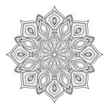 Hand drawn zentangle mandala. Royalty Free Stock Photos