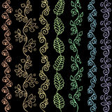 Hand drawn zentangle seamless patterns Royalty Free Stock Photos