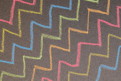 Hand drawn zigzag lines on chalkboard Royalty Free Stock Photography