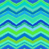 Hand drawn zigzag pattern in aqua blue. Stock Image