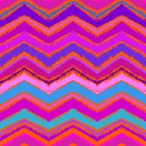 Hand drawn zigzag pattern in bright pink. Stock Photography