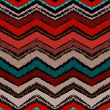 Hand drawn zigzag pattern in dark colors. Royalty Free Stock Photo