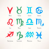 Hand-drawn zodiac Stock Photo