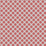 Red flowers pattern design. Hand drawnd red floral geometric pattern illustration Royalty Free Stock Image