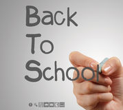 Hand draws Back to School. As concept Stock Photos