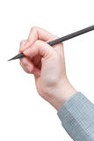 Hand draws by black pencil isolated Stock Images