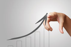 Hand draws business success chart concept Royalty Free Stock Image