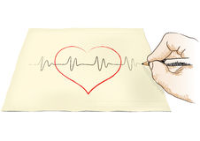 Hand draws heart Royalty Free Stock Images