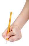 Hand draws by simple pencil isolated on white Royalty Free Stock Image