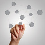 Hand draws  social network structure Royalty Free Stock Image