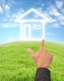 Hand drewing house Stock Photo