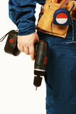 Hand with drill Stock Image