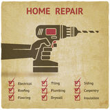 Hand with drill. home repair concept Royalty Free Stock Photography