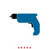 Hand drill it is icon . Hand drill  it is icon . Flat style Royalty Free Stock Image