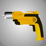Hand drill icon. Hand drill  vector illustration on grey background Stock Photo