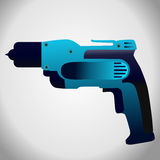 Hand drill icon. Hand drill  vector illustration on grey background Royalty Free Stock Photo