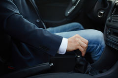 Hand of the driver Royalty Free Stock Image