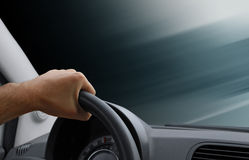 Hand driving Stock Photography