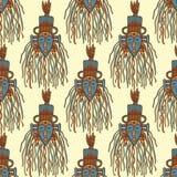 Hand drog afrikanmaskeringar Arkivbilder