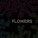 Hand drog blom- prydnader. Royaltyfri Fotografi