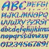 Hand drog bokstäver för din text stock illustrationer