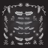 Hand drog dekorativa beståndsdelar Royaltyfri Illustrationer