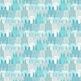 Hand drog gulliga Bunny Vector Pattern Background Roligt klotter vektor illustrationer