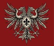 Hand drog heraldiska Eagle Royaltyfri Bild