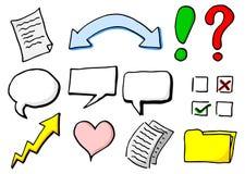 Hand drog infographic beståndsdelar för design
