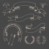 Hand drog klotterdesignbeståndsdelar dekorativt Royaltyfri Foto