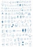 Hand drog symboler Royaltyfri Bild