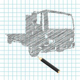 Hand-drown truck sketch Stock Image