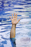 Hand of drowning man Royalty Free Stock Images