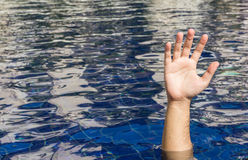 Hand of drowning man Stock Photography