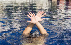 Hand of drowning man Royalty Free Stock Photo