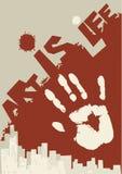 Hand-druk Royalty-vrije Stock Afbeelding