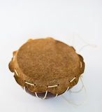Hand-Drum. A small hand-drum made from coconut Stock Image