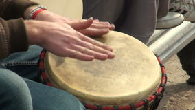 Hand-drum stock video footage