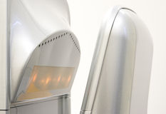 Hand dryer. Vertical hand dryer close up royalty free stock images