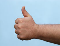 Hand: duim omhoog stock fotografie