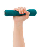 Hand with dumbbells Stock Image