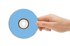 Hand with dvd Stock Image