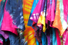 Hand-dyed clothes Stock Images