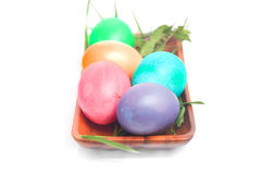 Hand-dyed Easter Eggs Royalty Free Stock Photos
