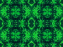 Hand-dyed green fabric with zig zag stitch details. Hand-dyed green fabric with zig zag stitch detail and in a seamless repeat pattern Stock Photography