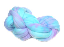 Hand Dyed Merino Wool Roving Stock Image