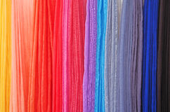 Hand dyed scarves at a local festival Royalty Free Stock Photo